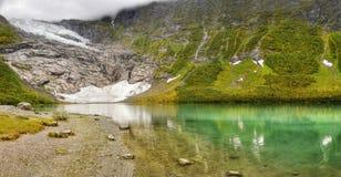 Lago Norvegia glacier del parco nazionale di Jostedal Fotografie Stock