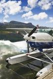Lago norway con il seaplane fotografia stock