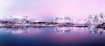 Lago norway do inverno Imagem de Stock