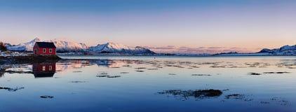 Lago norway do inverno Fotografia de Stock