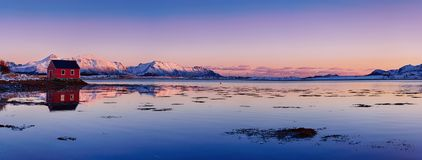 Lago norway do inverno Imagens de Stock