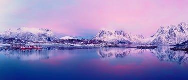 Lago norway do inverno Foto de Stock