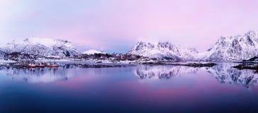 Lago norway do inverno Foto de Stock Royalty Free