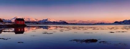 Lago norway do inverno Fotos de Stock Royalty Free