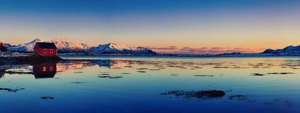 Lago norway do inverno Fotografia de Stock Royalty Free
