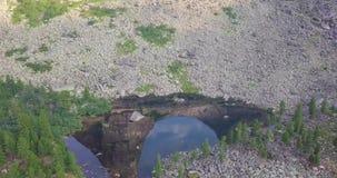 Lago norway nel dron delle montagne 4K stock footage
