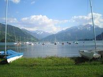 Lago nos alpes Foto de Stock