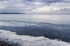 Lago a novembre Immagine Stock