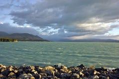 Lago in Nuova Zelanda fotografia stock