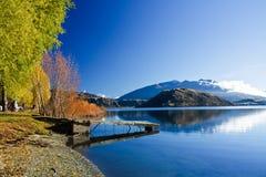 Lago in Nuova Zelanda Fotografie Stock