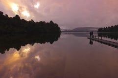 Lago in Nuova Zelanda del sud Fotografia Stock Libera da Diritti