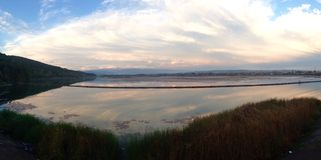 Lago nuvoloso Fotografie Stock Libere da Diritti