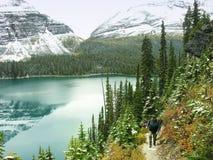 Lago O'Hara, Yoho National Park, Canadá foto de stock