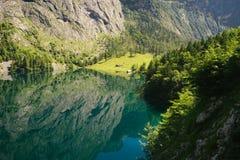 Lago Obersee, alpi di Berchtesgaden, Baviera, Germania Immagini Stock