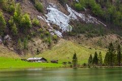 Lago Obersee. La Baviera, Germania Fotografia Stock