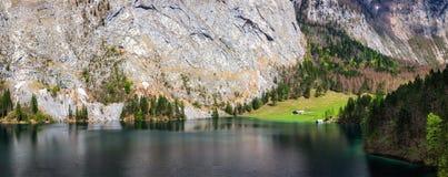 Lago Obersee La Baviera, Germania Immagine Stock