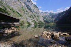 Lago Obersee in primavera La Baviera, Germania Fotografia Stock Libera da Diritti