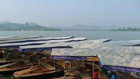 Lago ocidental com os barcos no verão Fotos de Stock Royalty Free