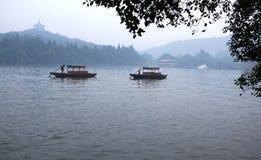 lago ocidental de hangzhou da porcelana Imagens de Stock Royalty Free