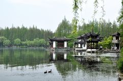 Lago ocidental, Hangzhou, China Foto de Stock