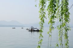 Lago ocidental, Hangzhou, China Imagens de Stock