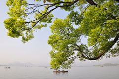 Lago ocidental, Hangzhou, China Fotografia de Stock Royalty Free