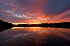 Lago ocidental sunset Imagens de Stock