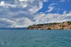 Lago Ocrida in Macedonia fotografie stock libere da diritti