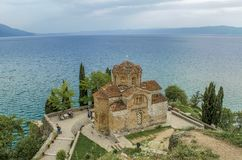 Lago Ocrida Macedonia - Kaneo - St John fotografia stock libera da diritti