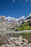 Lago Oeschinen Imagem de Stock Royalty Free