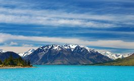 Lago Ohau, Nueva Zelandia Foto de archivo libre de regalías