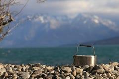 Lago Ohau teakettle Fotografia Stock