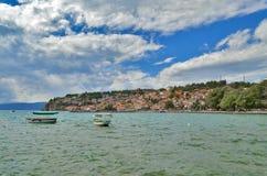 Lago Ohrid en Macedonia Imagenes de archivo