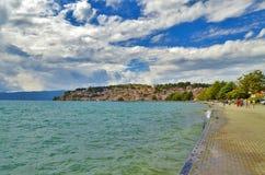 Lago ohrid in Macedonia immagini stock libere da diritti