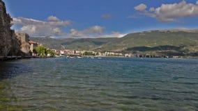 Lago Ohrid y las playas metrajes