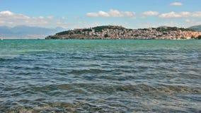 Lago Ohrid y las playas almacen de metraje de vídeo
