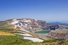 Lago Okama em Zao, Japão Imagens de Stock Royalty Free