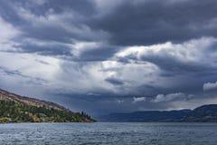 Lago Okanagan perto do Columbia Britânica Canadá de Kelowna Imagem de Stock