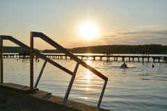 Lago in Olsztyn, Polonia Immagini Stock Libere da Diritti