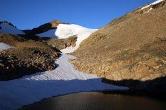 Lago Omega e sela - Montana fotografia de stock royalty free