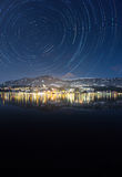 Lago orbitale Millstatt motion nell'inverno Immagine Stock