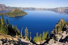 Lago Oregon crater fotografia stock libera da diritti