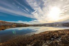 Lago Orkel, distrito de Oppdal, Noruega imagem de stock