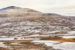 Lago Orkel, Norvegia fotografia stock libera da diritti
