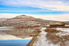 Lago Orkel, Norvegia fotografie stock