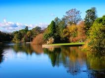 Lago ornamentale Melbourne Australia Immagine Stock