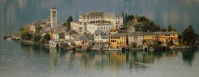 Lago Orta Imagem de Stock