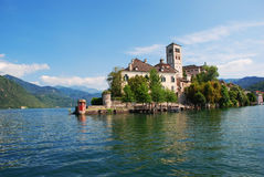 Lago Orta, console de San Giulio, Italy fotografia de stock