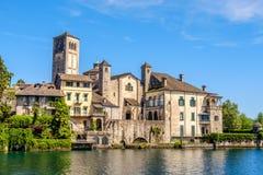 Lago Orta - isola di Orta San Giulio - Novara - Piemonte - l'Italia Fotografie Stock