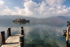 Lago Orta, Isola San Giulio Immagine Stock